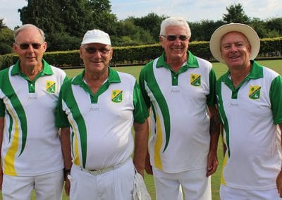 From left to right: John Abson, Terry Doe, David Bowler, Chris Gray